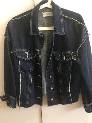 Mango Basics Denim Jacket dark blue