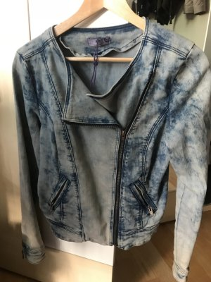 AJC Denim Jacket cornflower blue-white