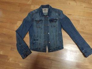 Zara Veste en jean bleu foncé-bleu