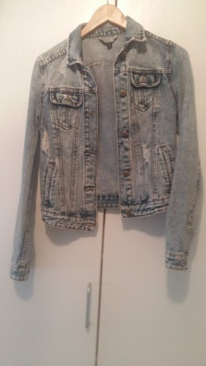 Jeansjacke 34 36 destroyed look