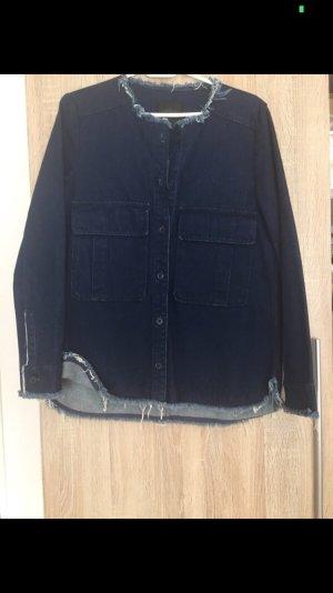 Zara Veste en jean bleu foncé
