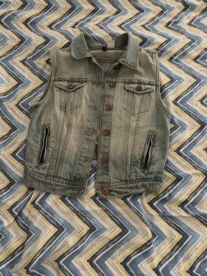 Jeansjacke ärmellos