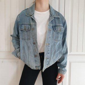 Jeansjacke Angelo Litrico Jeans jacke True vintage oversize L Blau hellblau Mantel