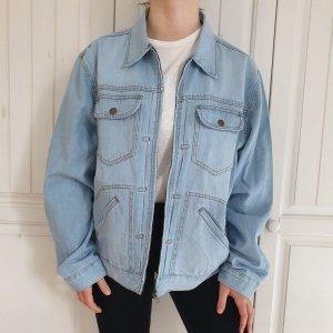 Jeansjacke blau Rainbow True Vintage Hellblau Jeans XL Oversize Jacke Mantel