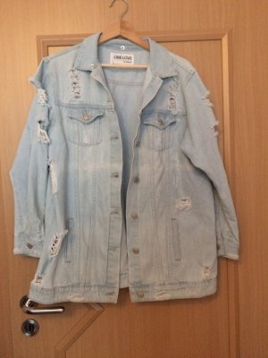 Colloseum Denim Jacket white-azure