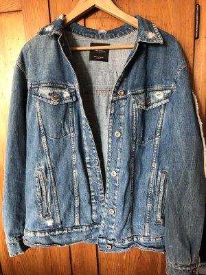 Zara Veste en jean bleu azur-bleuet