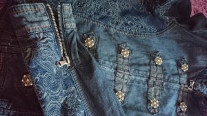 jeansjacke cream 34 xs neuwertig