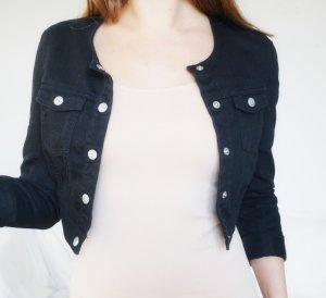 Jeansjacke Crop schwarz kurz Jacke H&M 34 XS