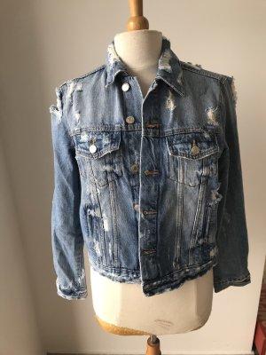 Jeansjacke Destroyed Jeans Zara Gr L