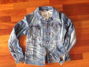 Esprit Veste en jean bleu-bleu acier coton