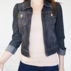 Jeansjacke Gap grau schwarz verwaschen 34 XS wie neu