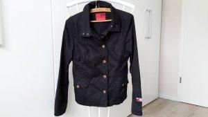 Jeansjacke, Größe 38, schwarz