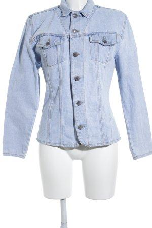 Jeansjacke hellblau-wollweiß Retro-Look