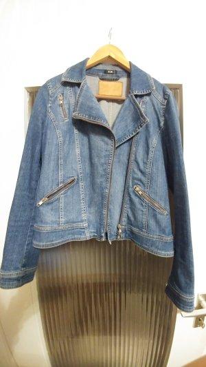 Jeansjacke im ausgewaschenen Look