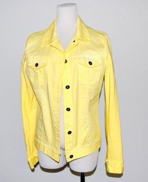 Jeansjacke in gelb von Made in Italy Gr.38