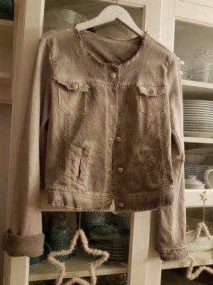 Veste en jean gris brun coton