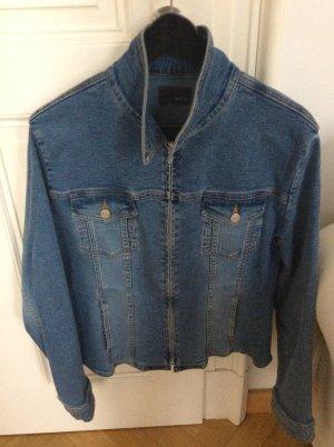 Jake*s Denim Jacket neon blue-cornflower blue cotton