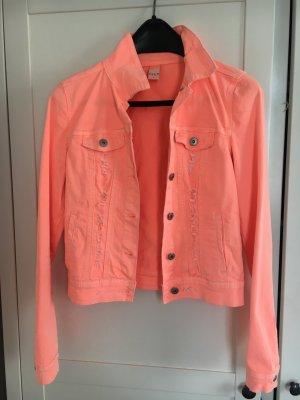 Jeansjacke in neon orange von VILA