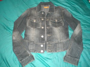 Jeansjacke in Used-Optic