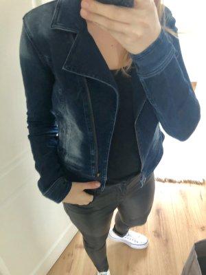 Jeansjacke Jacke Überzieher langärmlig mit Reißverschluss stretch Waschung