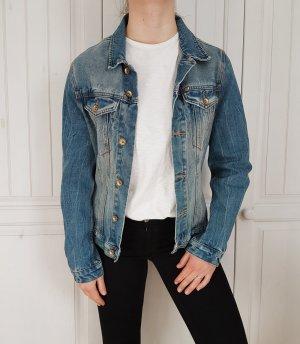 Jeansjacke jeans jacke blau true Vintage oversize bikerjacke biker pulli pullover tshirt shirt