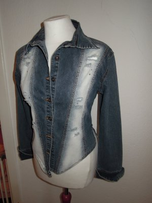 Jeansjacke Jeans Jacke Bluse Jeansbluse Strass Denim Gr. 34 36 Dolce E Ribelle