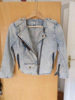 Jeansjacke * Jeansblouson * Bikerjacke * Gr. XS * Gap