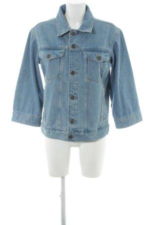 ADPT. Veste en jean bleuet style décontracté
