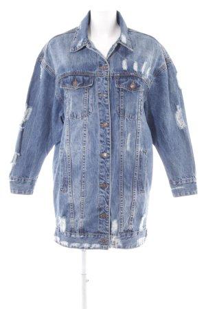 Jeansjacke kornblumenblau Street-Fashion-Look
