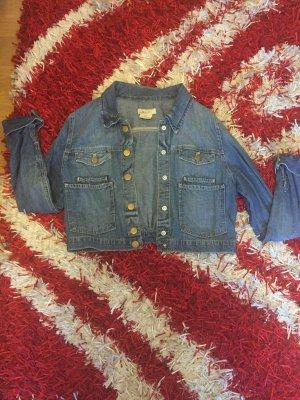 Jeansjacke - kurz blau