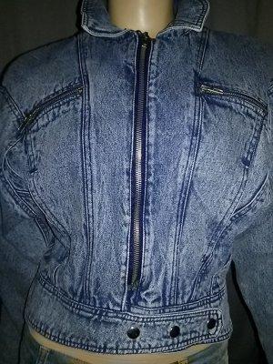 Veste en jean bleu pâle coton