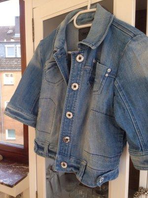 Jeansjacke kurz mit kurzen Ärmeln