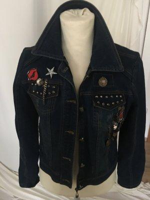 Jeansjacke mit Aplikationen