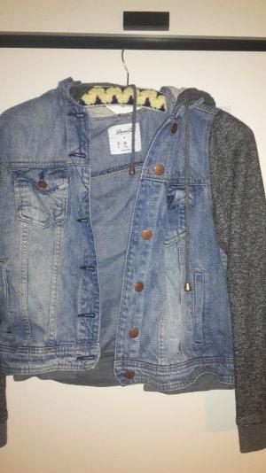 Jeansjacke mit Baumwollärmeln