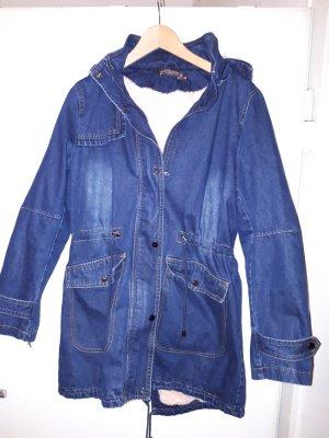 Jeansjacke mit Fell Rosa