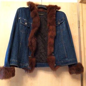 Jeansjacke mit Fellkragen von Rolf Schulte By Fur & Leather