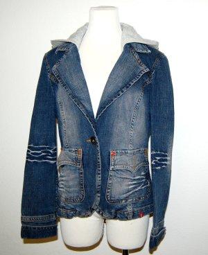 Jeansjacke mit Kapuze von Esprit - Gr. XL