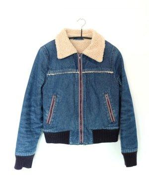 Jeansjacke mit Kunstfell