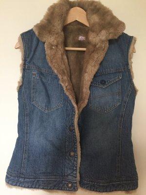 Jeansjacke mit Kunstfell Futter von Paul Smith