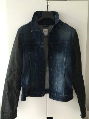 Jeansjacke mit lederähnlichen Ärmeln * Gr. 36 * s.Oliver