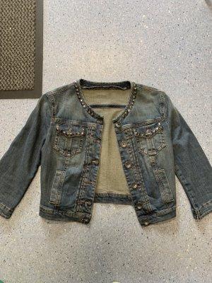 Jeansjacke mit Nieten gr.34, von Sisley