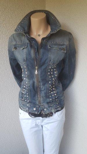Jeansjacke mit Nieten von Jacky O. - Gr. M