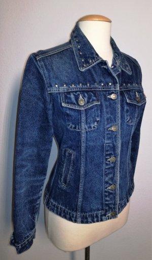 Veste en jean bleu foncé coton