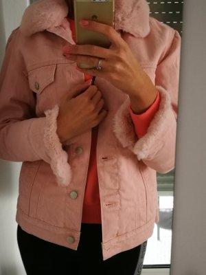 Veste en jean rosé