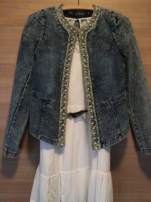 Jeansjacke mit Perlenverzierung von Dressstore