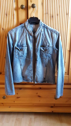 Jeansjacke mit Reissverschluss