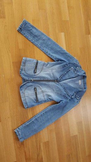 Jeansjacke mit Reisverschluss