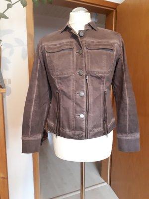 BC Veste en jean gris lilas coton