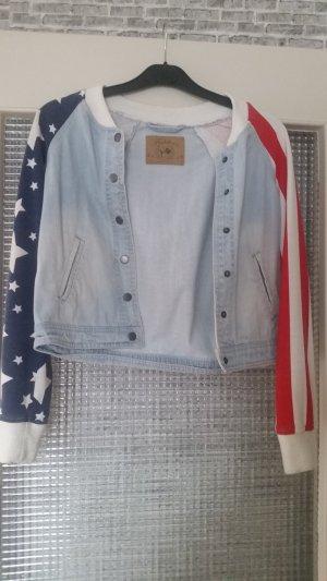 Jeansjacke mit Stars & Stripes
