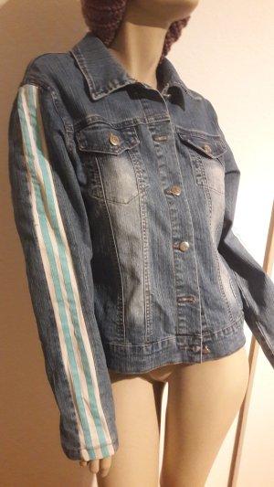 Jeansjacke mit Streifen, Gr.42